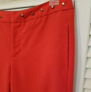 Tailored Professional Pants with Gold Studs